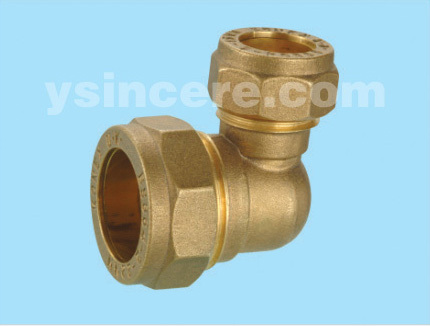 Compression Fittings with O-rings for Copper Pipes YC-00404