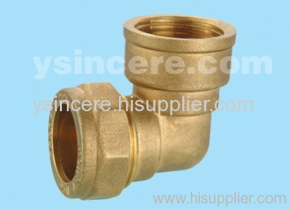 Compression Fittings with O-rings for Copper Pipes YC-00406