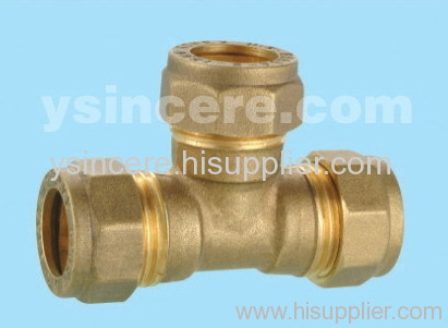 Compression Fittings with O-rings for Copper Pipes YC-00407