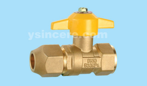 Brass compression ball valve YC-10133
