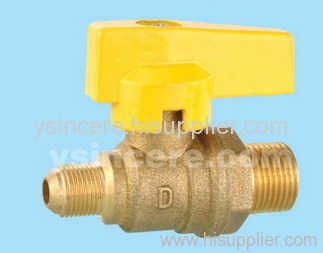 Brass gas valve casting body steel handle YC-10142