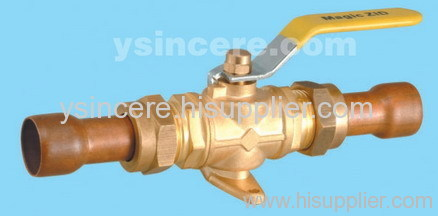 Brass gas valve casting body steel handle YC-10148