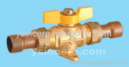 Brass gas valve casting body steel handle YC-10149