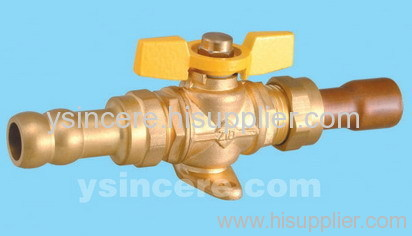 Brass gas valve casting body steel handle YC-10150