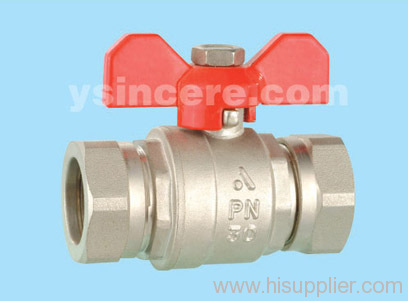 Brass compression ball valve YC-10172