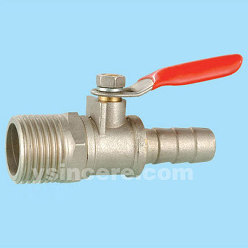 Brass gas valve casting body steel handle YC-10402