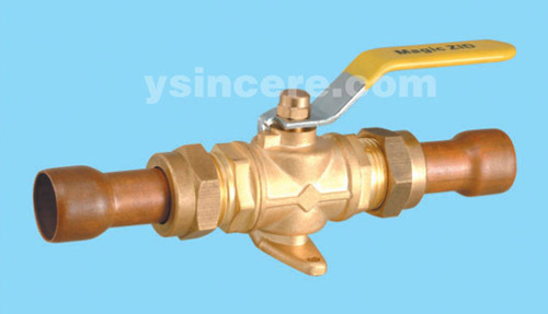 Brass gas valve casting body steel handle YC-10404