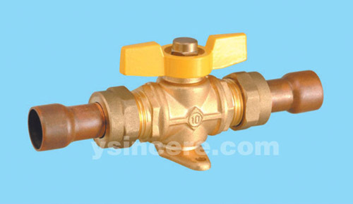 Brass gas valve casting body steel handle YC-10406