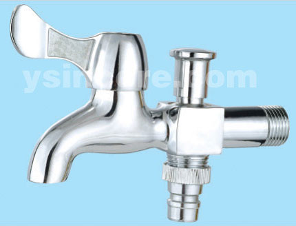 Zinc Alloy Handle Chrome-plated Body Brass tap YC-20117