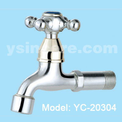 Zinc Alloy Handle Chrome-plated Body Brass tap YC-20304