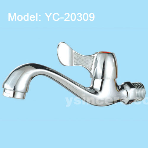 Zinc Alloy Handle Chrome-plated Body Brass tap YC-20309